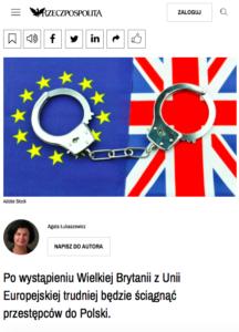 Brexit uderzy w europejski nakaz aresztowania