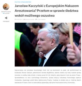 Europejski nakaz aresztowania dla Jarosława Kaczyńskiego - J. Kaczyński